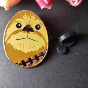 4/$25 Disney Star Wars Chewbacca Egg Shaped Pin